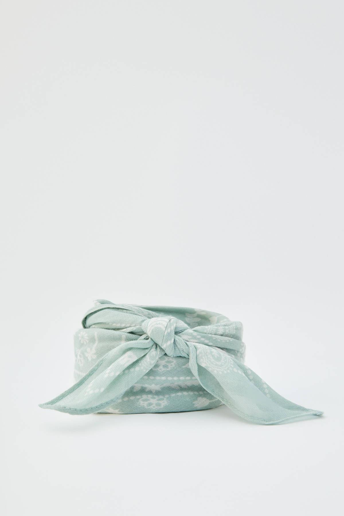 Pull & Bear Kadın Su Yeşili Pastel Renkli Klasik Bandana 09842302