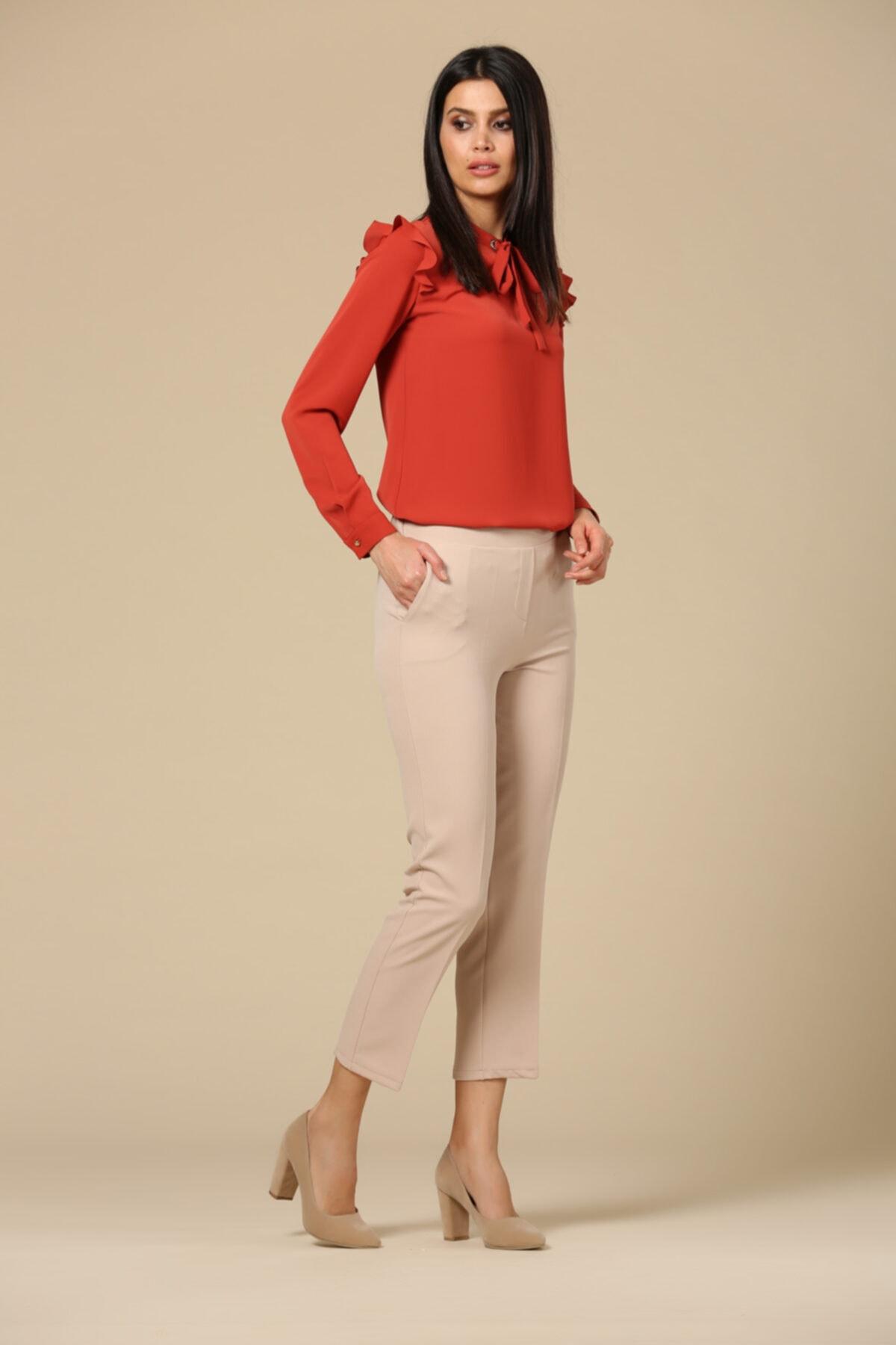 EMBENUR Kadın Gri  Pantolon 1