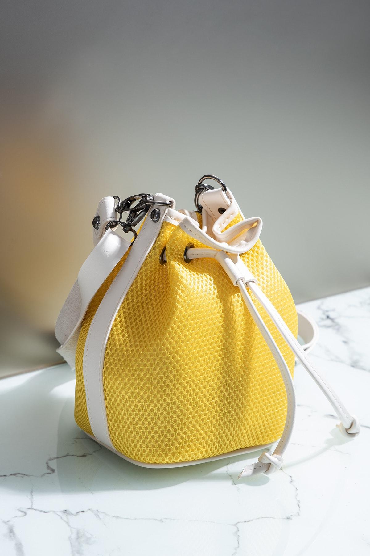 Tonny Black Kadın Çanta Sarı Beyaz Tbc02 1