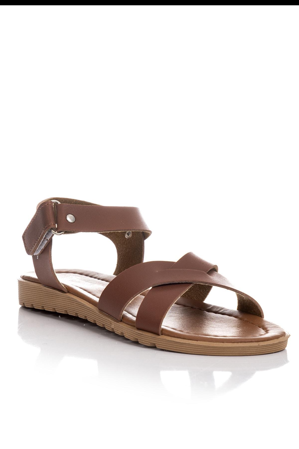Tonny Black Kadın Sandalet Taba Tbsnd 2