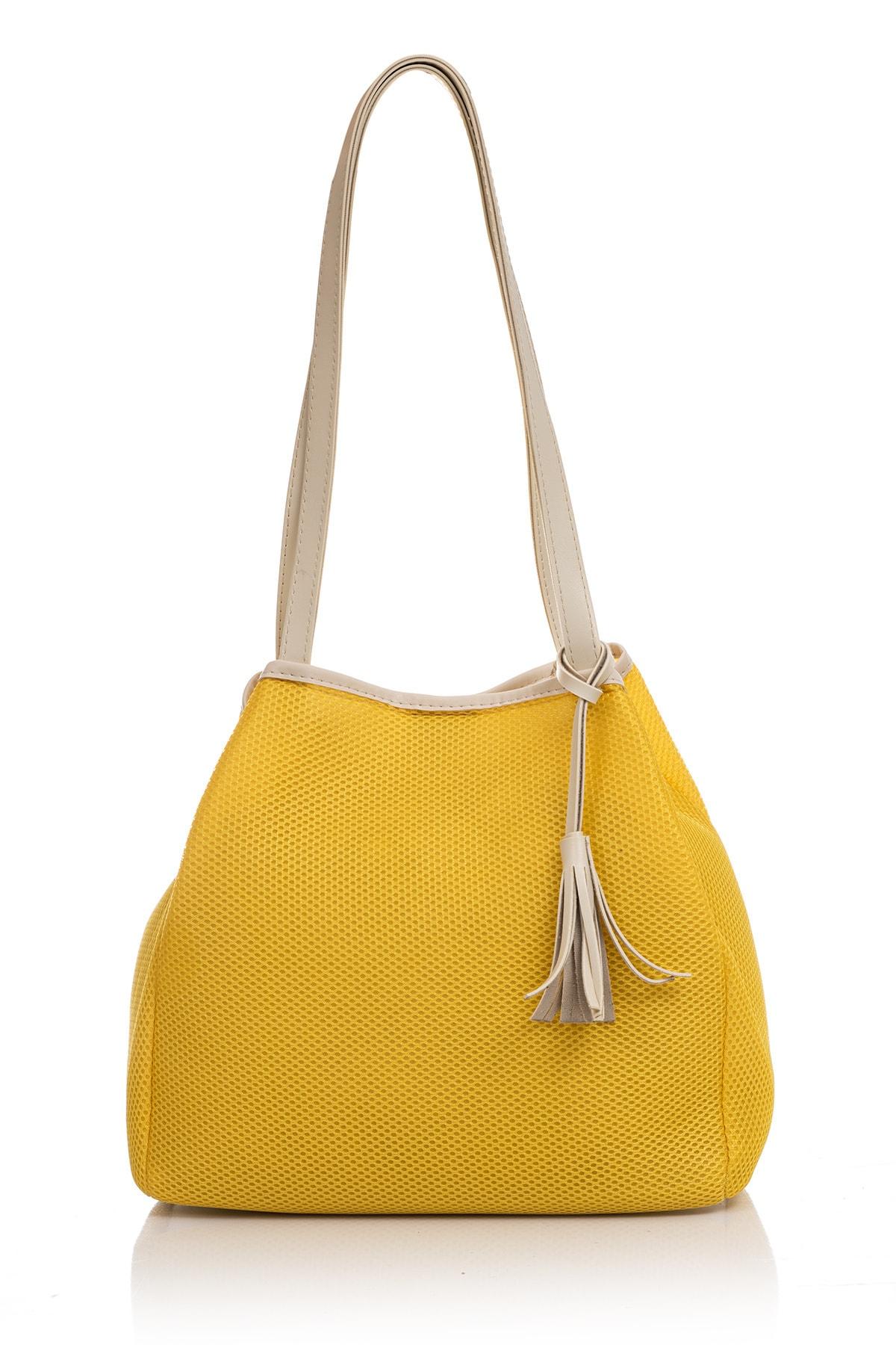 Tonny Black Kadın Çanta Sarı Beyaz Tbc05 2