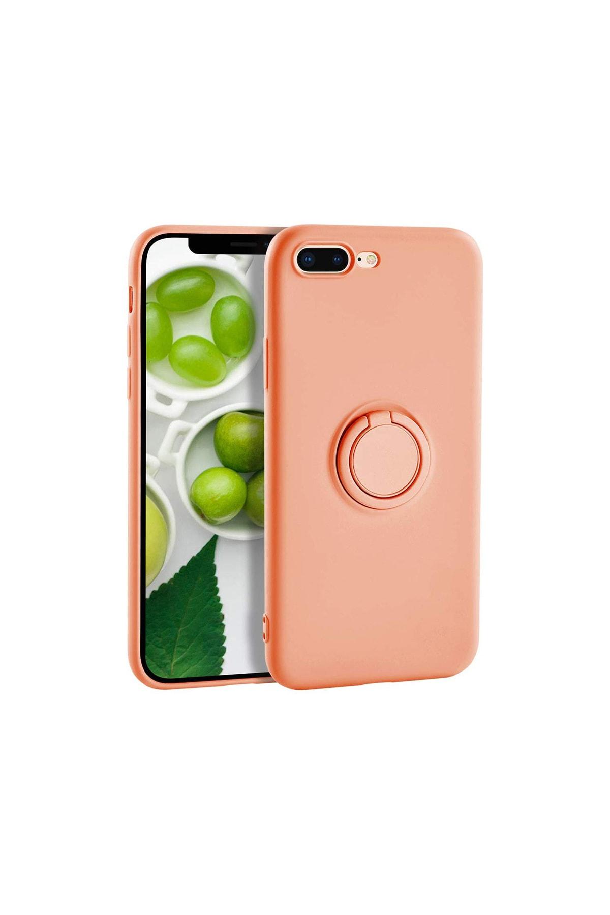 casemarkt Iphone 7 Yüzüklü Standlı Silikon Yavruağzı Telefon Kılıfı 1