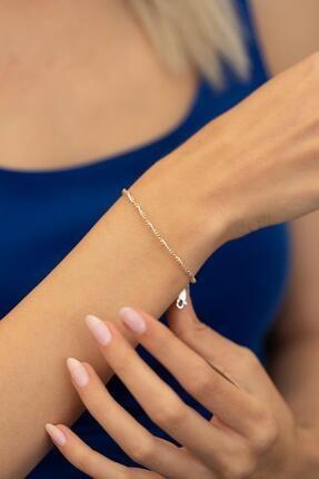 İzla Design Kadın Toplu Örgü Model Altın Kaplama Gümüş İtalyan Bileklik PKT-TLYSLVR0022