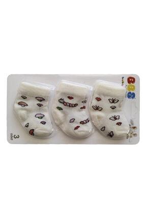 BBS Pamuklu Desenli 3 Lü Paket Kız Ve Erkek Bebek Çorapları