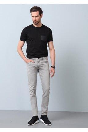 Ramsey Erkek Gri Düz Denim Pantolon RP10119945
