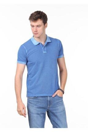 Ramsey Erkek Mavi Düz Örme T - Shirt RP10120144