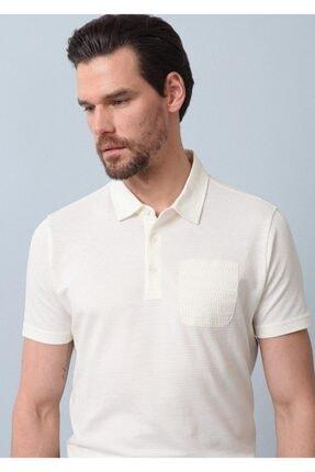 Ramsey Erkek Ekru Jakarlı Örme T - Shirt RP10119709