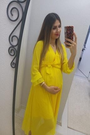 MACFLY Kruvaze Yaka Şifon Elbise