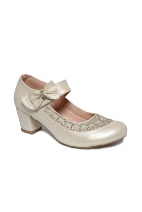 İnci Bebe Kız Çocuk Sedef Renk Topuklu Ayakkabı Ryd704