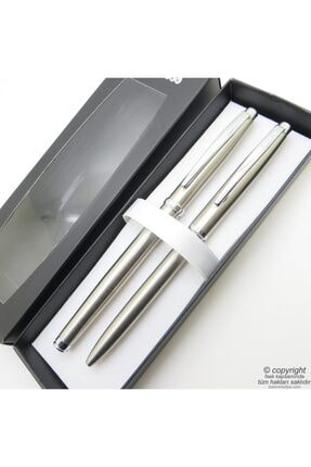 Scrikss Rt115 Tükenmez Kalem + Roller Kalem Set | Kalem | Isme Özel Kalem | Hediyelik Kalem