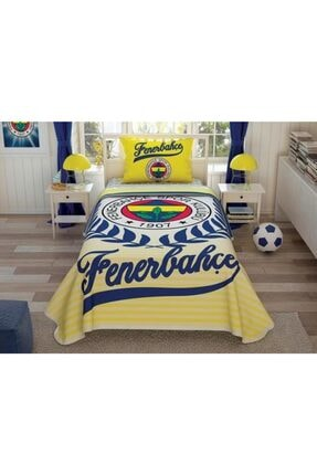 Taç Lisanslı Pike Takımı Fenerbahçe Yellow Tek Kişilik