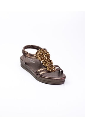 Guja 207 - 5 Kahverengi Kadın Sandalet Kahverengi-36