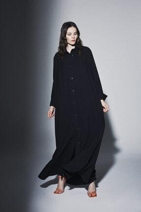 Latifa Kadın Siyah Elbise