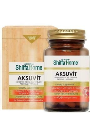Shiffa Home Aksu Vital Aksuvit Ginseng  ve Propolis 80 Tablet