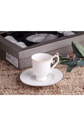 Gönül Kolat Gönül Kahve Takımı Ayaklı Yaldızlı 12 Parça G2168