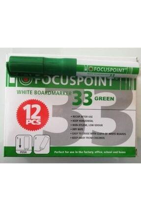 Focuspoint 33 Tahta Kalemi Yuvarlak Uçlu Kartuşlu Yeşil Tekli (1 Adet)