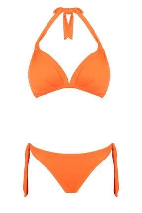 Bellisa Üçgen Kaplı Bikini Oranj