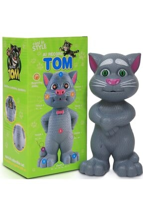 aslan oyuncak Konuşan Kedi Ses Kaydeden Müzikli 23 cm