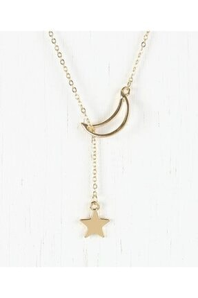 Takı Store 925 Ayar Ay Yıldızlı Gümüş Kolye