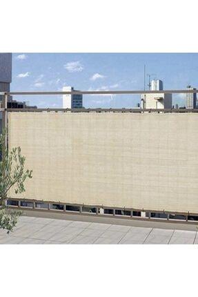 Asenya Balkon Bezi Balkon Brandası 0,50x9 m Krem Gölgelik File Balkon Demiri Örtüsü Balkon Korkuluğu Örtüsü