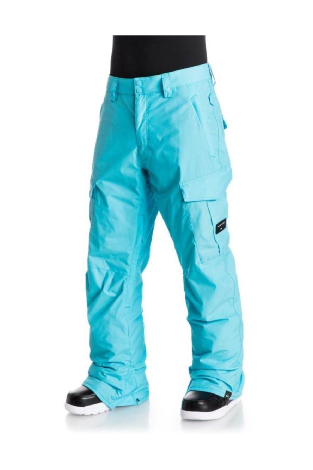 Quiksilver Porter Ins Erkek Kayak ve Snowboard Pantolonu Turkuaz 2