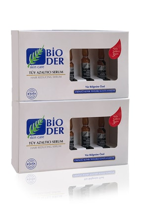 Bioder Tüy Azaltıcı Serum Yüz Bölgesi Için 2'li Avantaj Paketi (6*2ml)