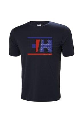 Helly Hansen Erkek Lacivert Spor T-Shirt Hh Hp Racing T-shirt