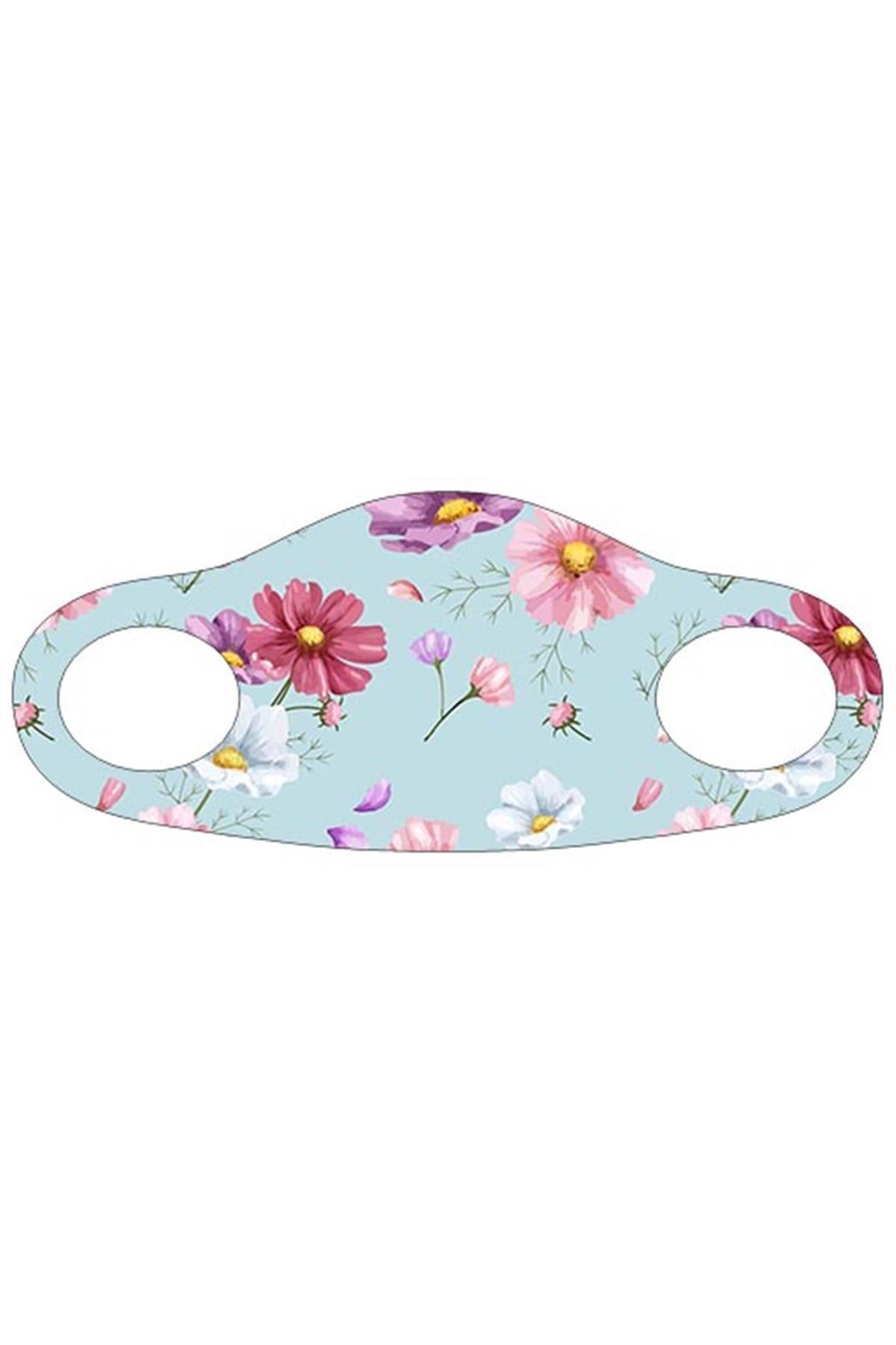 Noon Collection Noon NN7057 Kadın Baskılı Maske