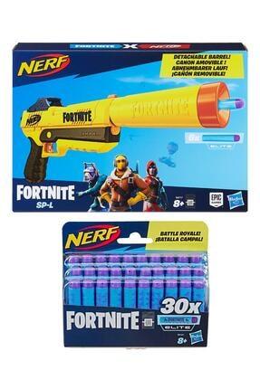 Hasbro Nerf Fortnite Sp-l + Nerf Fortnite Elite Dart 30'lu Yedek Paket