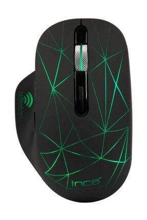 Inca Kablosuz Şarj Edilebilir 1600 Dpi Usb+type C Çift Alıcılı Gökkuşağı Aydınlatmalı Mouse - Siyah