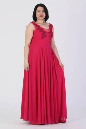 Günay Giyim Kadın Fuşya Abiye Elbise 41283200001234