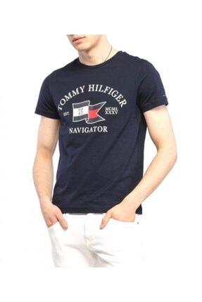TOMMY HILFIGERX Erkek Siyah Bisiklet Yaka Tommy Hılfıger T-shırt Mw0mw13349-dw5