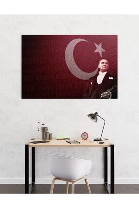 Dekoliya Türk Bayraklı Atatürk Tablosu