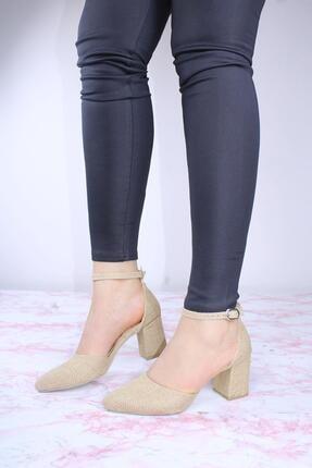 ByErz Kadın Karnıyarık Topuklu Ayakkabı