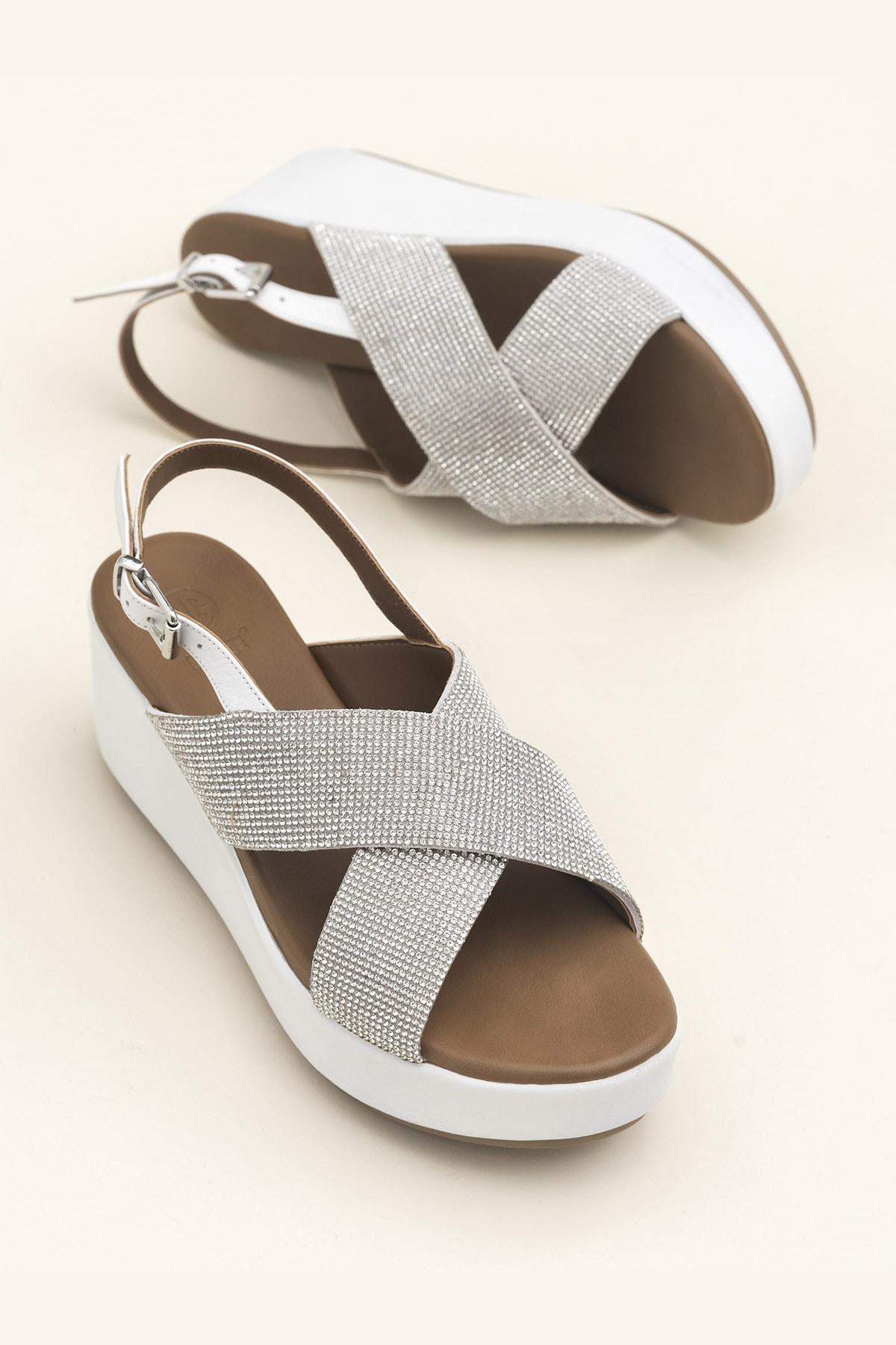 Elle Shoes SISSEL Beyaz Sandalet 20YLT123059 1