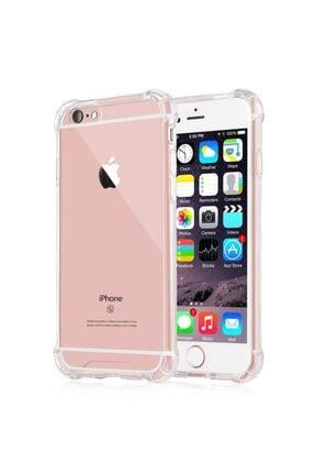 Mopal Iphone 6 / 6s Anti Şok Darbe Emici Silikon Şeffaf Kılıf Kapak