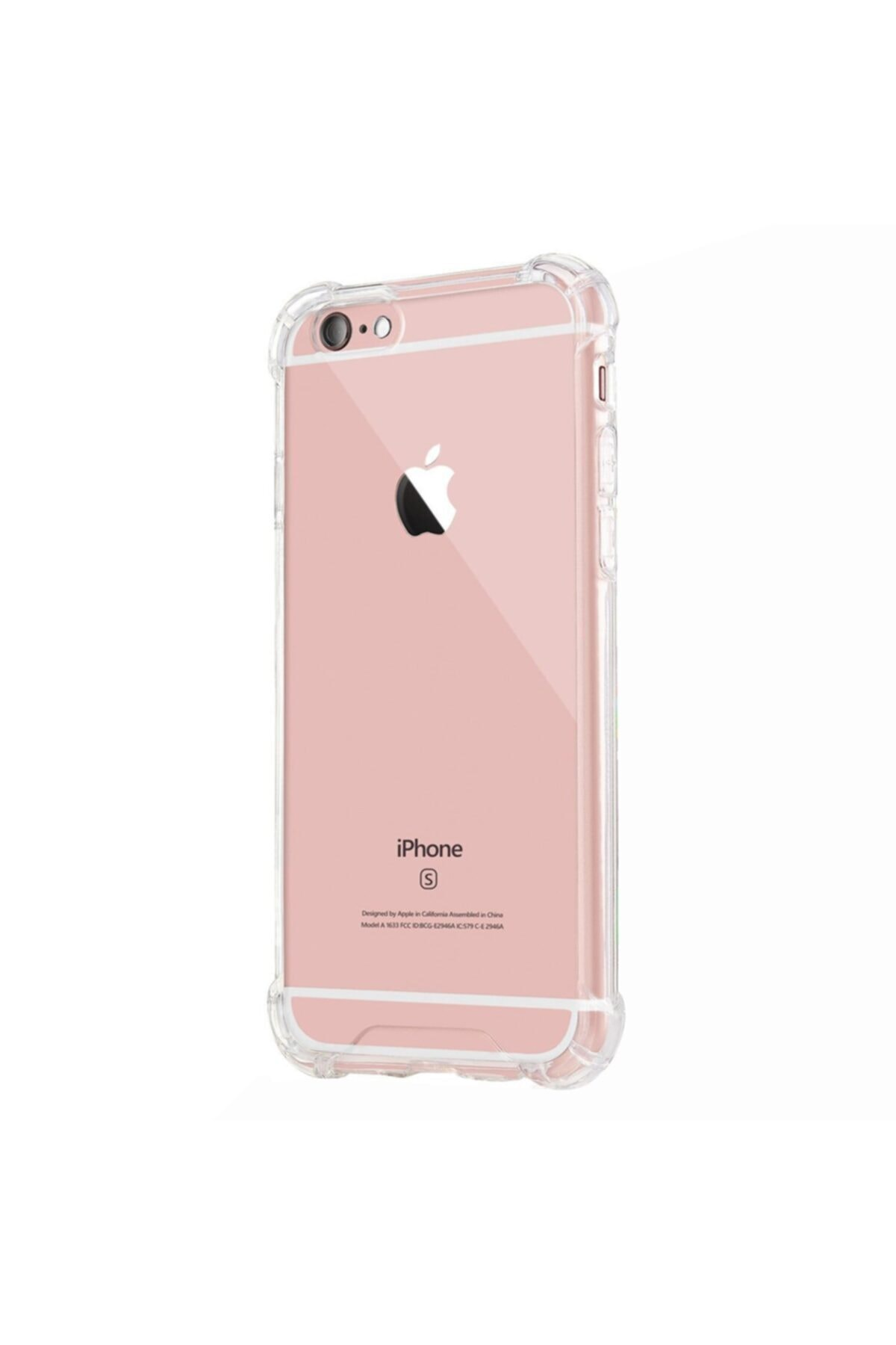Mopal Iphone 6 / 6s Anti Şok Darbe Emici Silikon Şeffaf Kılıf Kapak 2