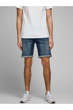 Jack & Jones Erkek Mavi Jeans Şort