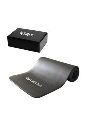Delta 15 Mm Yoga Mat-yoga Minderi Ve Yoga Blok-yoga Köpüğü Gri