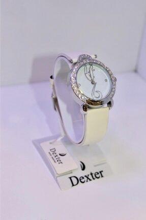 Dexter Kadın Beyaz Deri Kordon Kol Saati