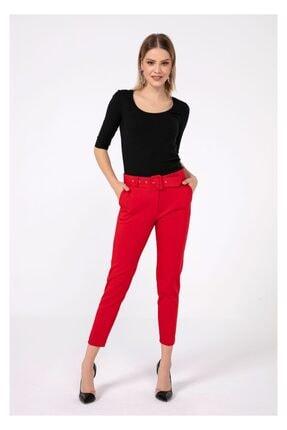 Tiffany K20181 Kalın Kemer Klasık Pantolon