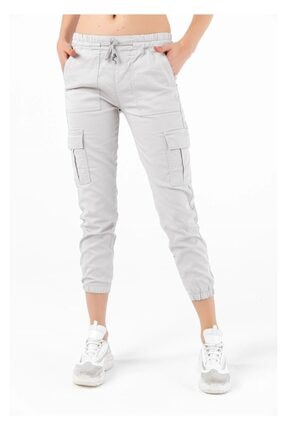 Tiffany A0172 Kargo Çep Paça Lastikli Pantolon