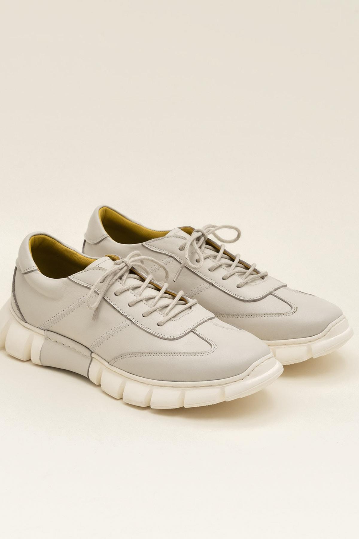 Elle Shoes RAJU Hakiki Deri Bej Erkek Ayakkabı 2