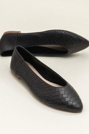 Elle Shoes Hakiki Deri Ackerr Siyah Kadın Babet 20Yfm3885025