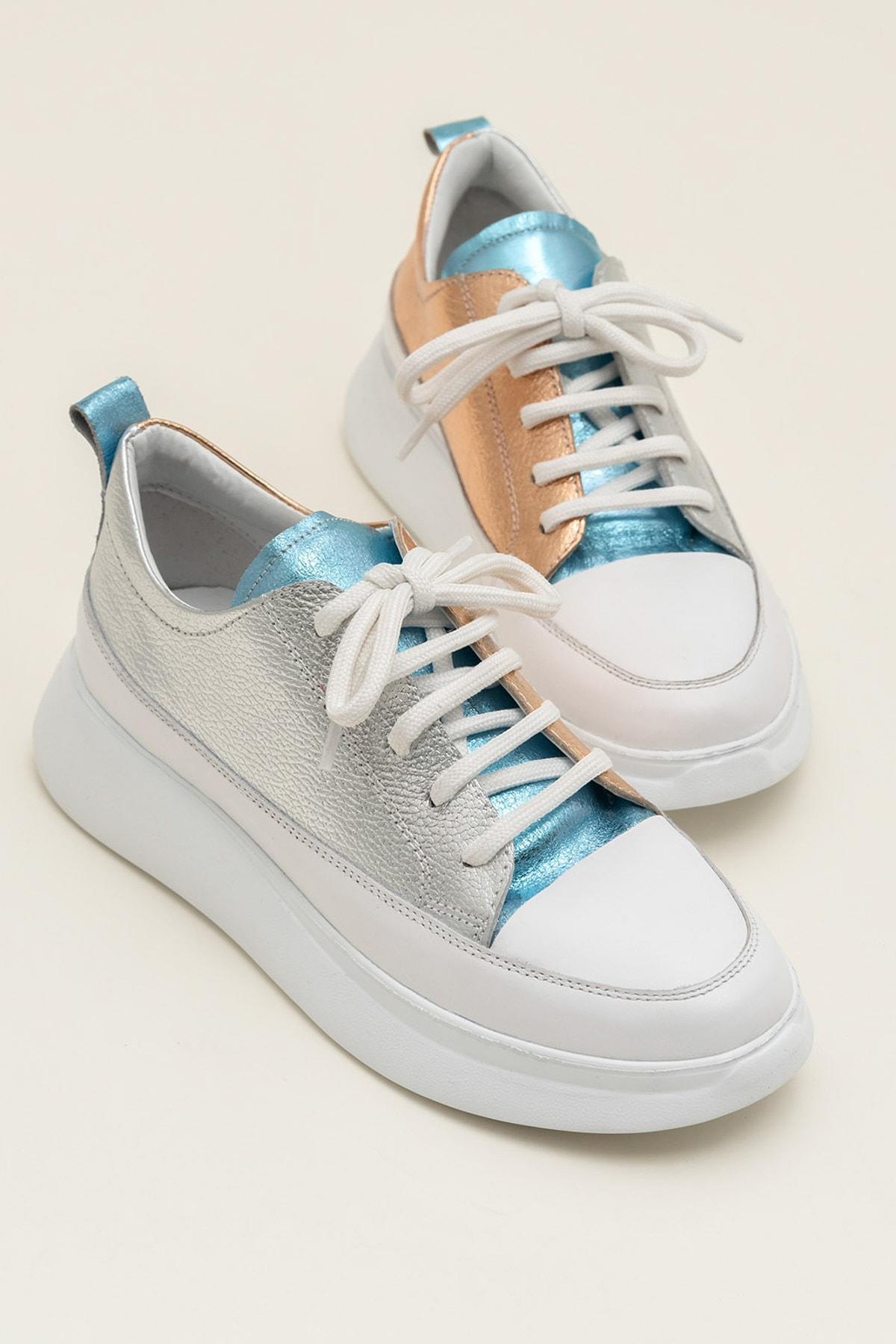 Elle Shoes FANCY Metalık Kombin Kadın  Sneaker 20YSE192404 1