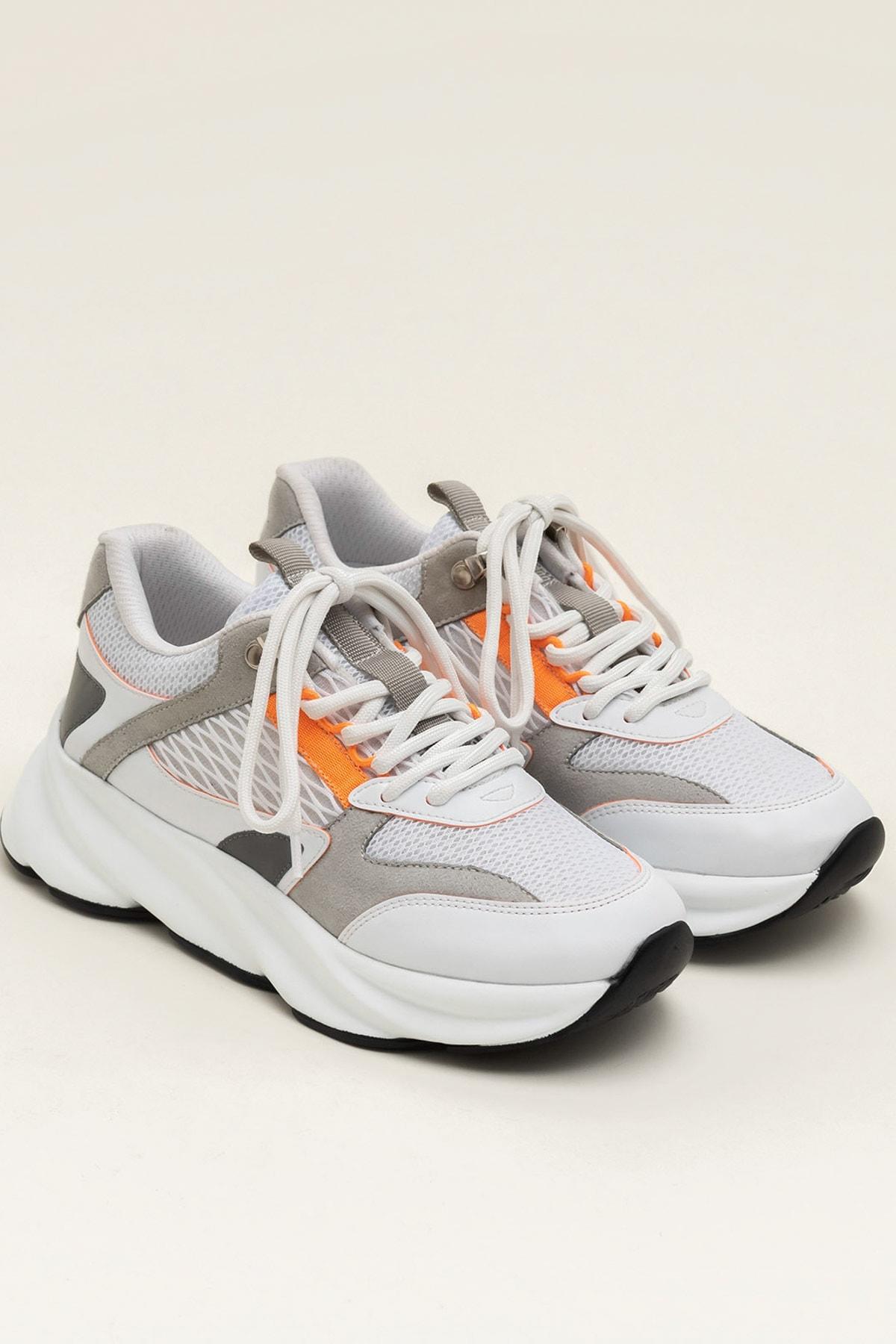 Elle Shoes ANJELA Turuncu Neon Kadın  Sneaker 20YKN5205 2