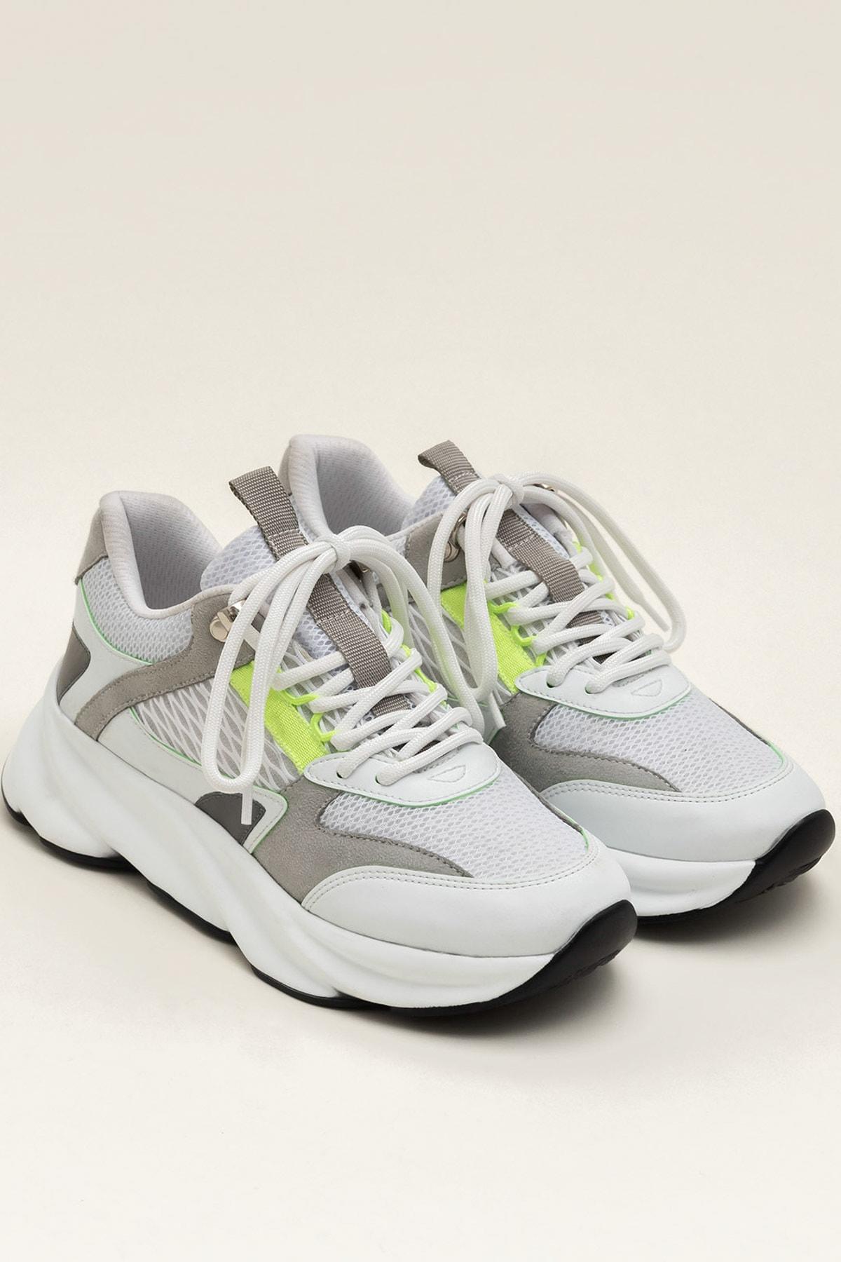 Elle Shoes ANJELA Yeşil Neon Kadın  Sneaker 20YKN5205 2