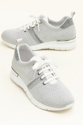 Elle Shoes SARIKA Gümüş/Beyaz Sneaker 20YYN05336