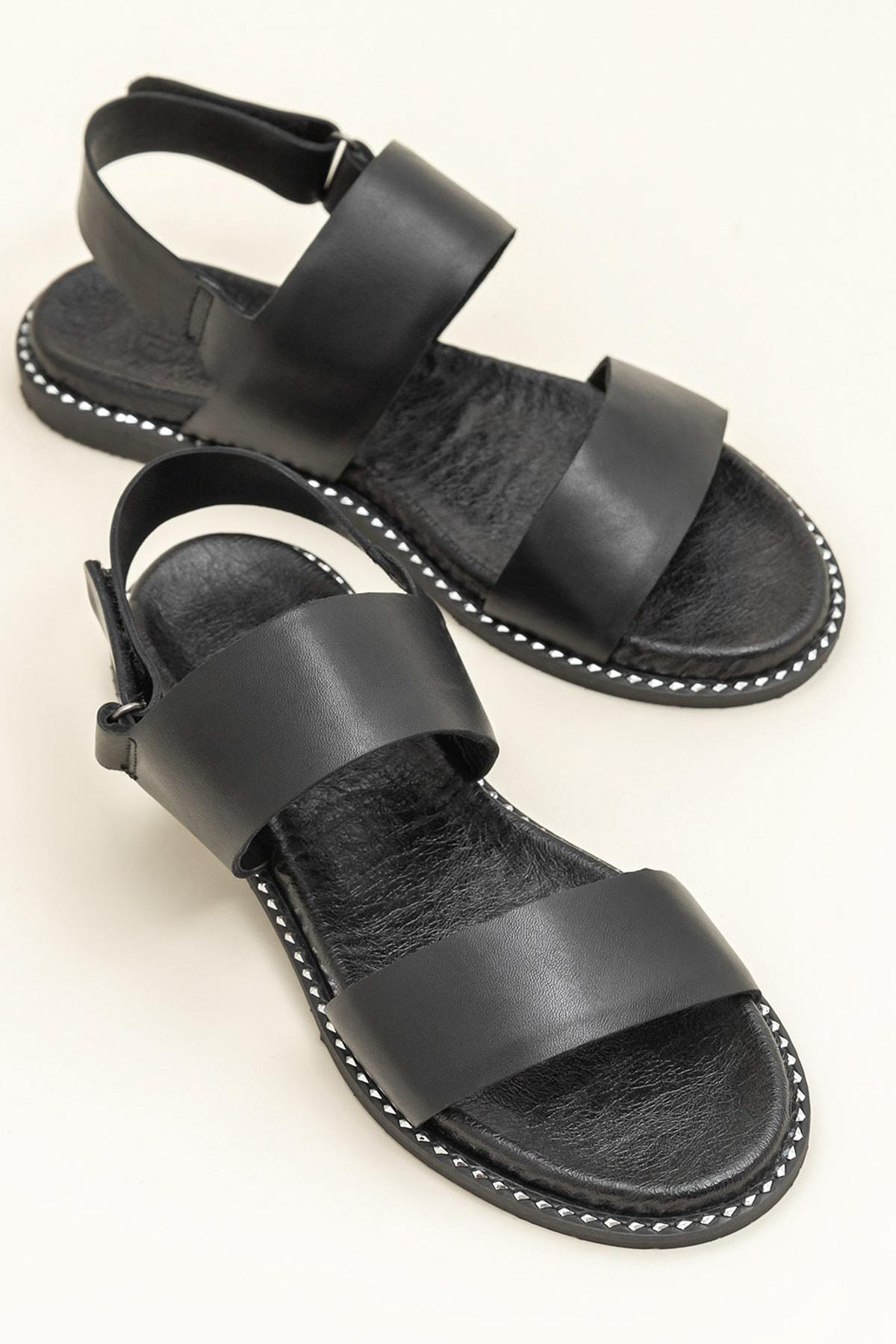 Elle Shoes LARHONDA Siyah Sandalet 20YRE4650 1