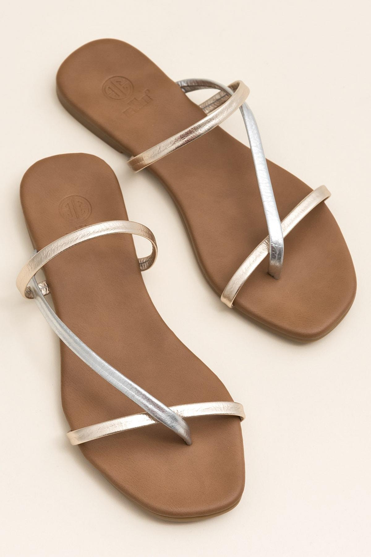 Elle Shoes KELLEY Metalık Multi Kadın  20YLT476004 1